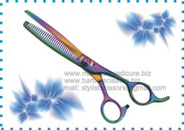 Thinning Scissors, Chuncking Scissors, Hair Cutting Scissors, Hair Cutting Shears, Blue Coated