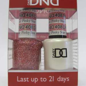 DND Gel Polish / Nail Lacquer Duo - 408 Pinky Star