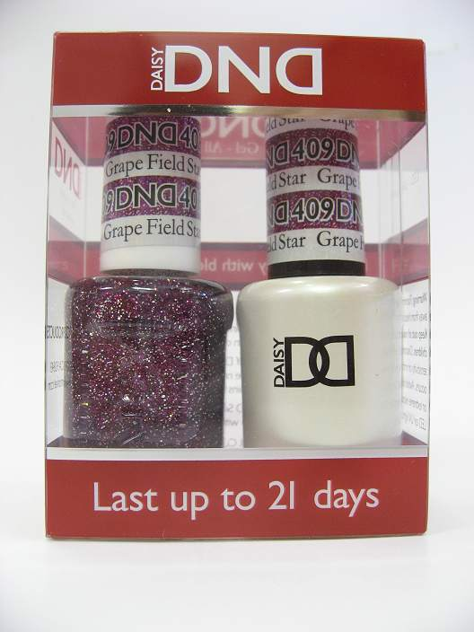 DND Gel Polish / Nail Lacquer Duo - 409 Grape Field Star