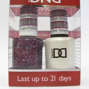 DND Gel Polish / Nail Lacquer Duo - 409 Grape Field Star