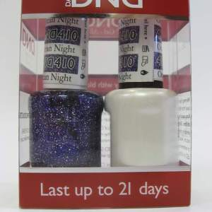 DND Gel Polish / Nail Lacquer Duo - 410 Ocean Night Star