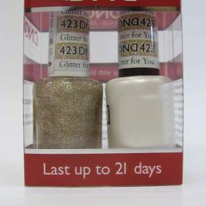 DND Gel Polish / Nail Lacquer Duo - 423 Glitter For You