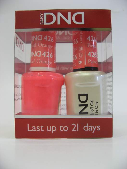 DND Gel Polish / Nail Lacquer Duo - 426 Pastel Orange