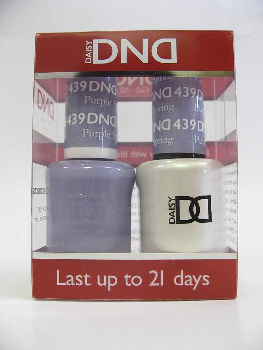 DND Soak Off Gel & Nail Lacquer 439 - Purple Spring