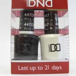 DND Soak Off Gel & Nail Lacquer 447 - Black Licorice