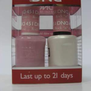 DND Soak Off Gel & Nail Lacquer 451 - Rock 'N' Rose
