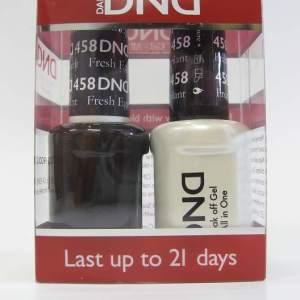 DND Soak Off Gel & Nail Lacquer 458 - Fresh Eggplant