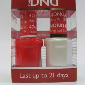 DND Soak Off Gel & Nail Lacquer 474 - Striking Red