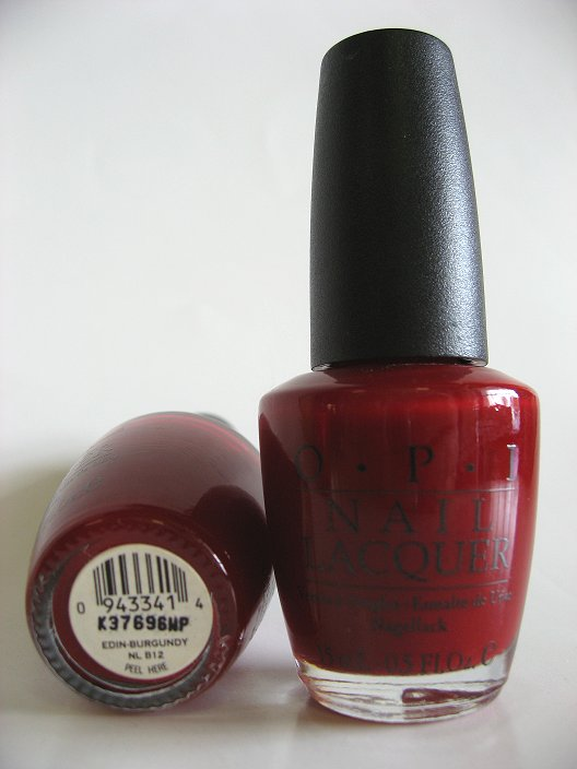 OPI Polish - NL B12 - Edin-Burgundy - Manicure Pedicure