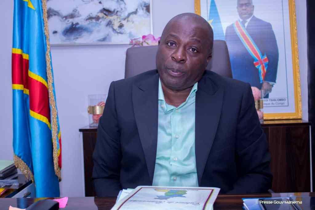 Son Excellence Auguy Musafiri dans cabinet de travail fin août 2019. Le Gouverneur revient de Matadi via Kinshasa où il a pris part au 1er forum sur l'énergie. Photo by Chris Milosi.