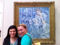 Here's Esther & me with the new painting.