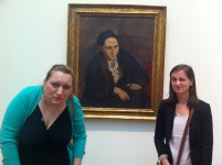 Jocelyn & I are doing our best impressions of Gertrude Stein...(my favorite Picasso, btw)