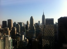 Here is a picture of the skyline from the 42nd floor of 30 Rock (the Deloitte offices)...