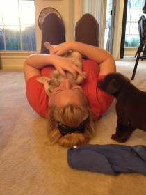 Playing with puppies @ Kenzie's.
