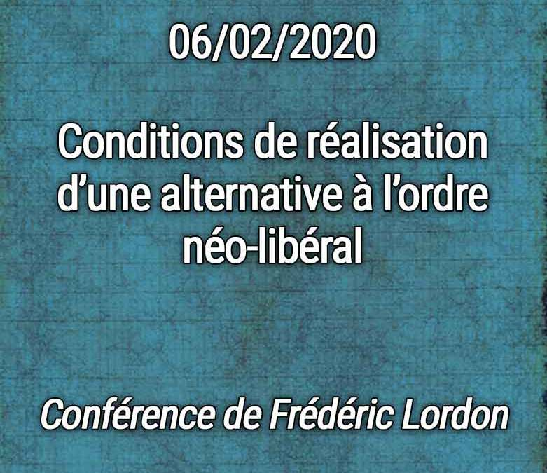 Conférence de Frédéric Lordon le 06/02
