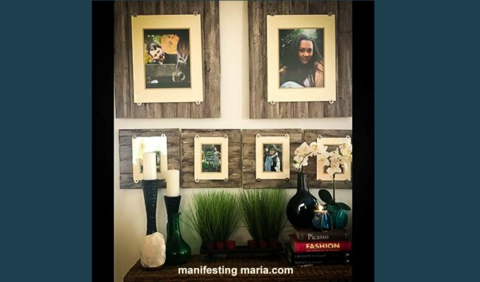 DIY-Weathered wood picture frames
