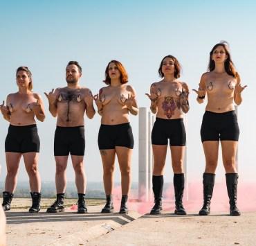 Gaële Lagacherie, Palem Candilier, MC Chaton, W, Perrine Bocquet par Vivien Bertin, backstage tournage clip Patriarchy is burning manifesto21