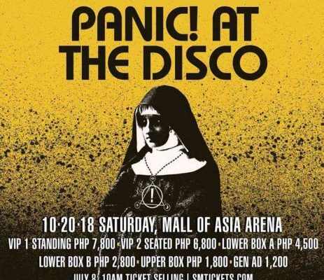 """Panic! At The Disco """"Pray for the Wicked"""" in Manila 2018 poster"""