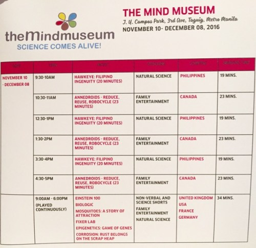 Schedule The Mind Museum
