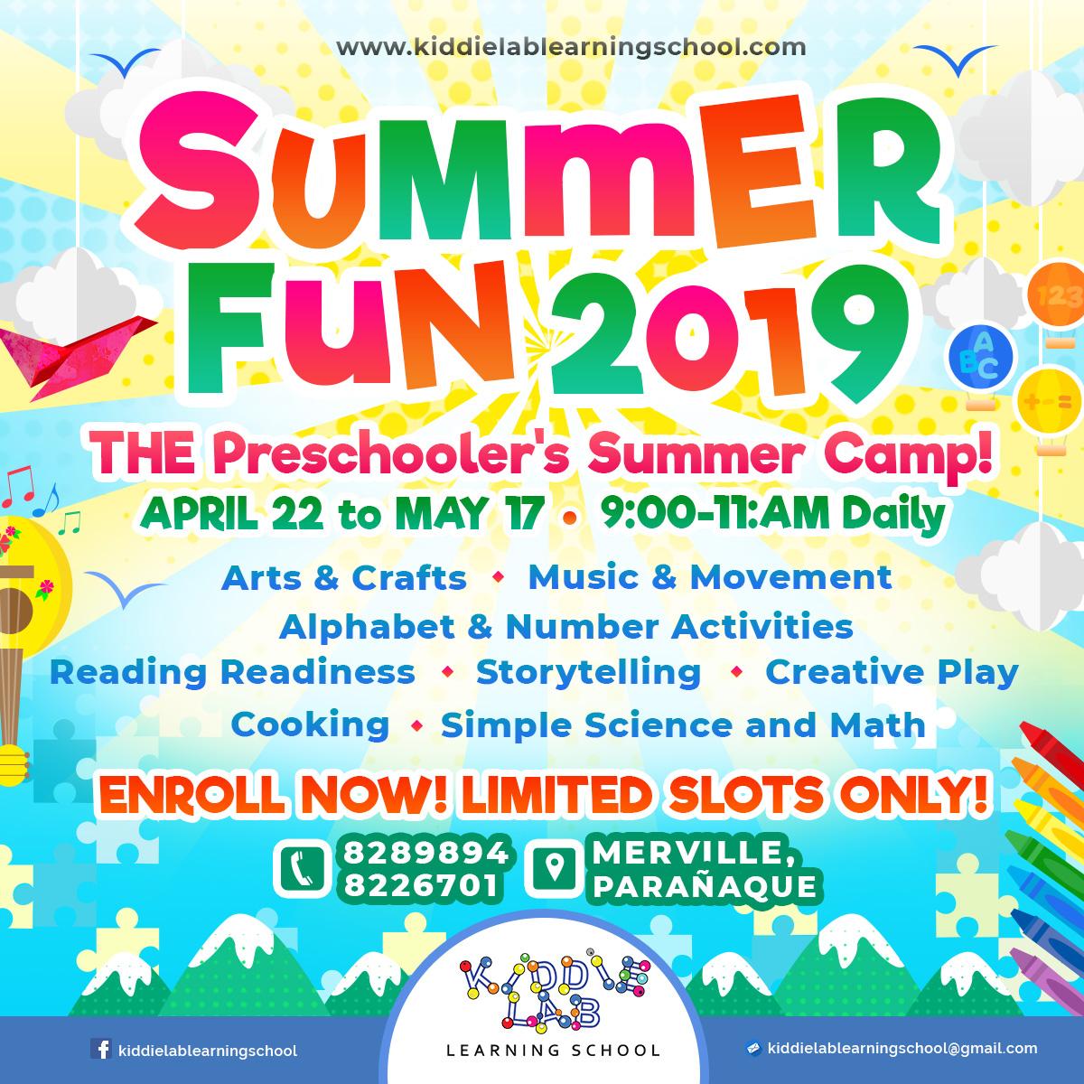 Kiddie Lab Summer Fun 2019 Summer Special 2019 Manila For Kids