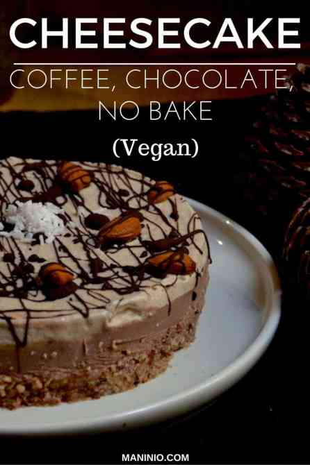 chocolate - cheesecake - vegan - maninio - cakes