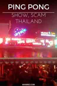 Ping Pong show scam in Bangkok, Thailand. maninio.com #scamthailand #pingpongthailand