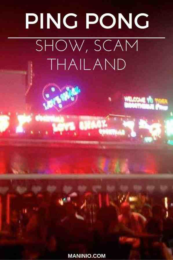 ping - pong - show - maninio - scam - bangkok - Thailand