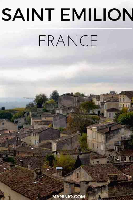 Saint - Emilion - maninio - France