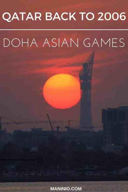 Qatar back to 2006 - Doha Asian Games. maninio.com #qatardohaasiangames