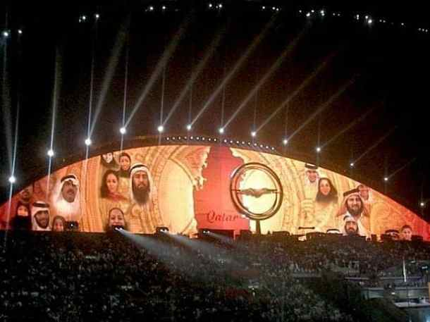Light celebrations in Doha. maninio.com #qatardohaasiangames #Eidcelebrations