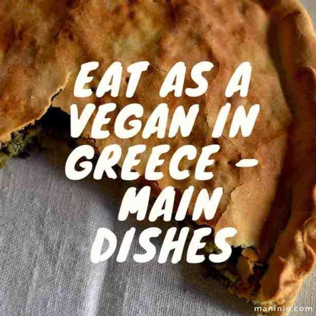 Eat as a vegan in Greece, spinach pie #veganspinachpie #greekpies