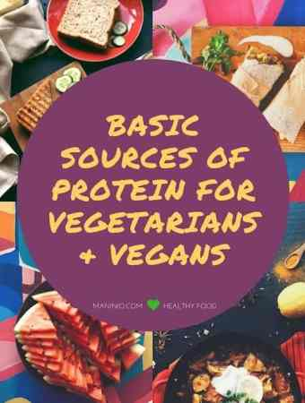 Basic sources of protein - maninio.com #veganprotein #vegansources