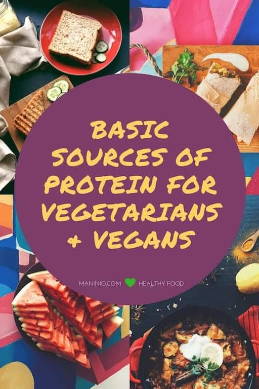Basic Sources of Protein for Vegans maninio.com #veganprotein #proteinsources