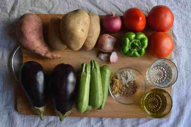 Ingredients for the Mpriam - Greek & Vegan