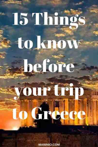 things to know before your visit in Greece. maninio.com, #greektravels #greekforeigners