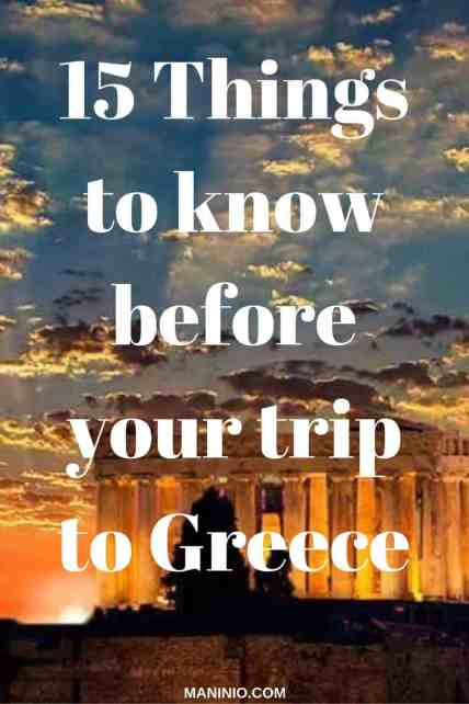 things to know before your visit in Greece, best travels maninio.com, #greektravels #greekforeigners