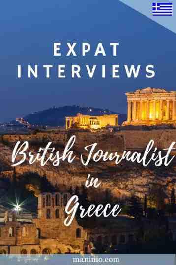 British Living in Greece - Expat Interviews. maninio.com #expatinterviews #expatsingreece
