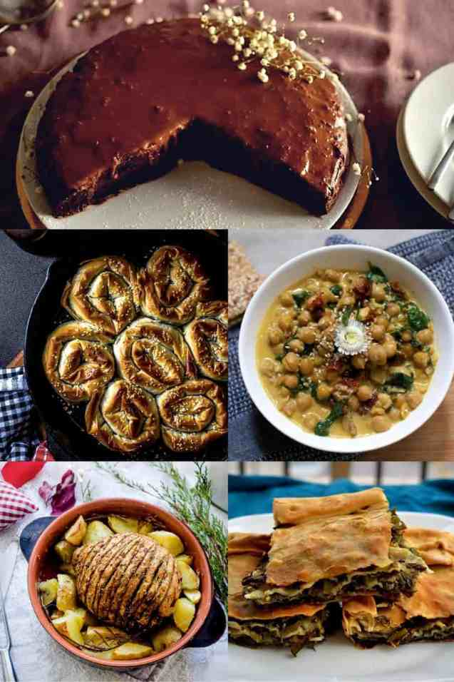 Best 20+ New Year's Menu Ideas | Lunch and Dinner | Vegan. salads, main dish, appetisers, desserts. maninio.com