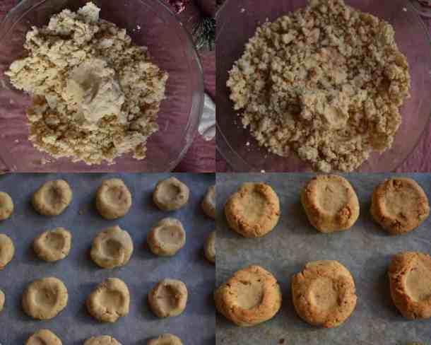 Διαδικασία ζύμης και ψημένοι Vegan Κουραμπιέδες. maninio.com