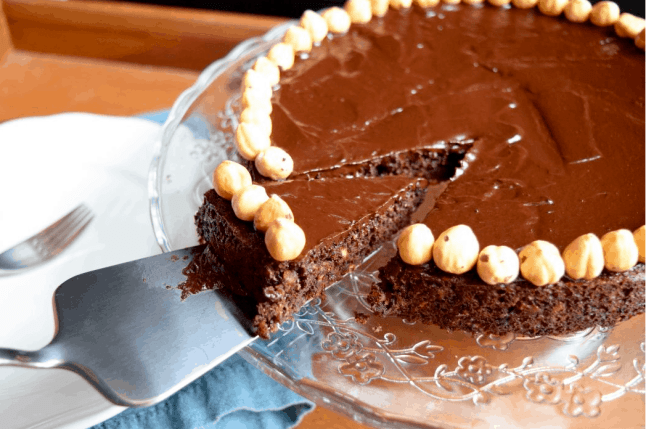 Chocolate Hazelnut Tarte. maninio.com