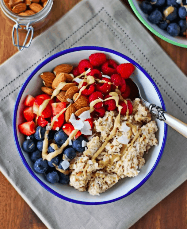 Contentednesscooking - Breakfast Bowl - Vegan Healthy Breakfast Ideas to Start your day. maninio.com