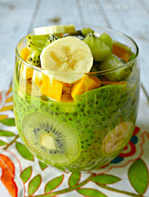 Veggiessavetheday - Green Chia Pudding - Vegan Healthy Breakfast Ideas to Start your day. maninio.com