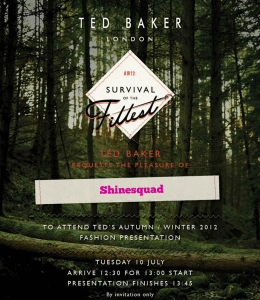 FASHION: Ted Baker Survival of the Fittest  Runway Show