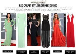 Red Carpet Style from Missguided – from BAFTA to GRAMMY