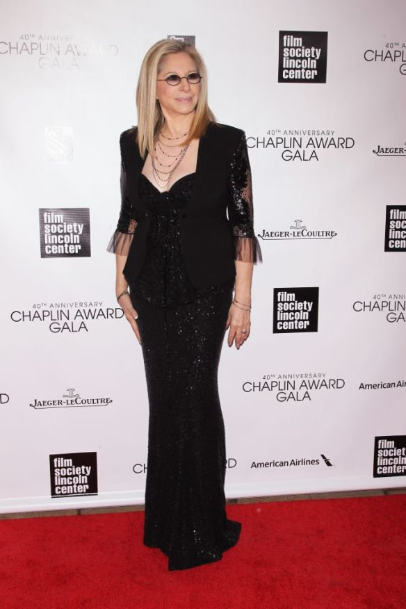 Barbra Streisand attends the 40th Anniversary Chaplin Award Gala at Avery Fisher Hall at Lincoln Center for the Performing Arts on April 22, 2013 in New York City.  (Photo by Jim Spellman/WireImage)