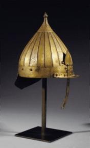 gilt-copper (tombak) helmet