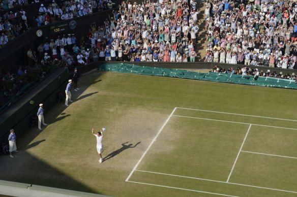 Andy Murray GBR beat Novak Djokovic SRB Mens  Final Centre Court Wimbledon Championships 2013  Picture Bob Martin/AELTC
