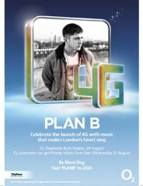 O2 4G Switch On and Roll Out in London with Plan B on 29 August