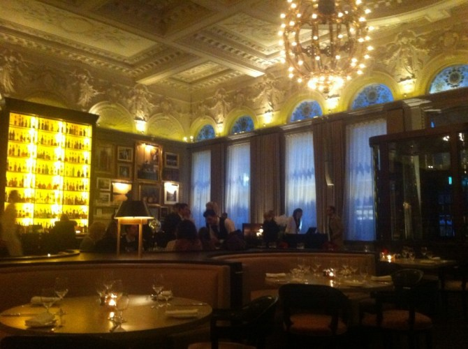 what it looks like inside Interior of Berners Tavern at The London Edition Hotel