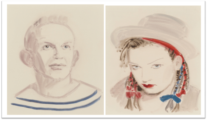 jean paul gaultier and Boy George by Annie Kevans